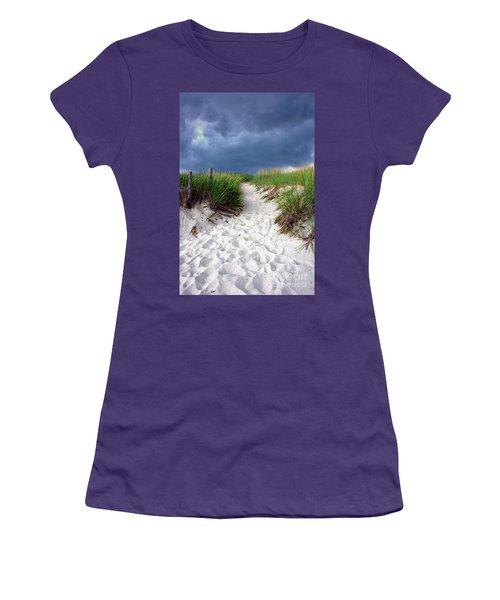 Sand Dune Under Storm Women's T-Shirt (Athletic Fit)