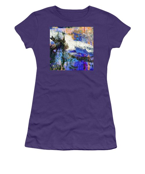 Women's T-Shirt (Junior Cut) featuring the painting Sausalito by Dominic Piperata