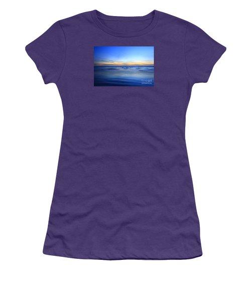 Women's T-Shirt (Junior Cut) featuring the photograph Rocks In Surf Carlsbad by John F Tsumas