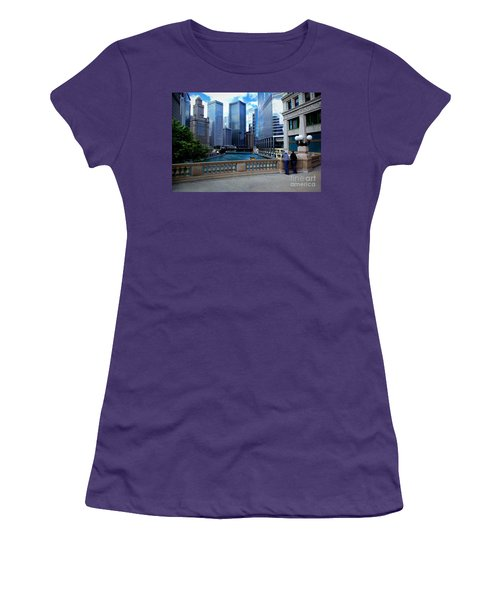 Summer Breeze On The Chicago River - Color Women's T-Shirt (Athletic Fit)