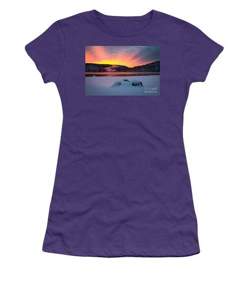 Sunrise At Bass Lake Women's T-Shirt (Athletic Fit)