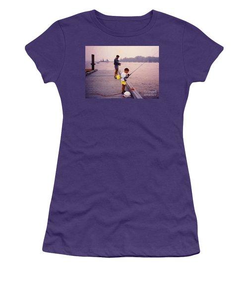 Sunrise Fishing Women's T-Shirt (Athletic Fit)