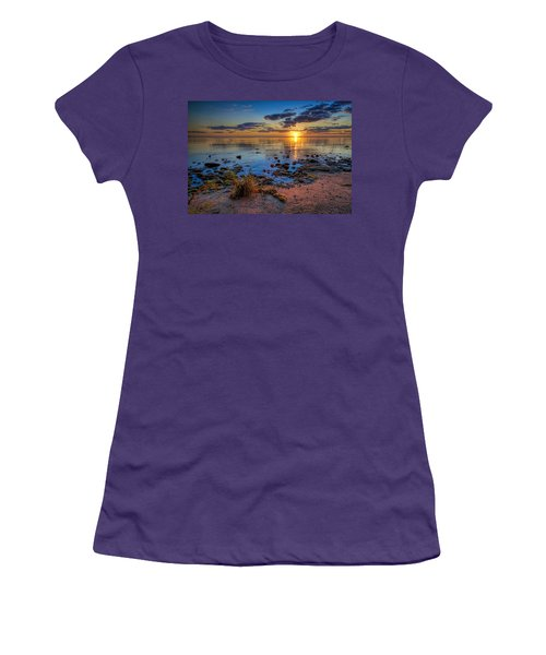 Sunrise Over Lake Michigan Women's T-Shirt (Athletic Fit)