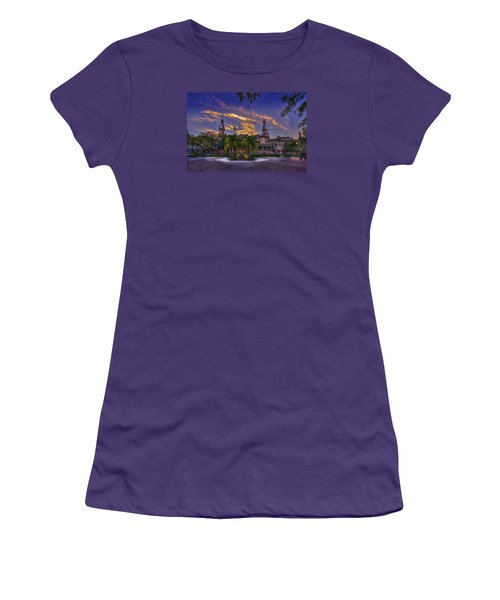 Sunset At U.t. Women's T-Shirt (Athletic Fit)