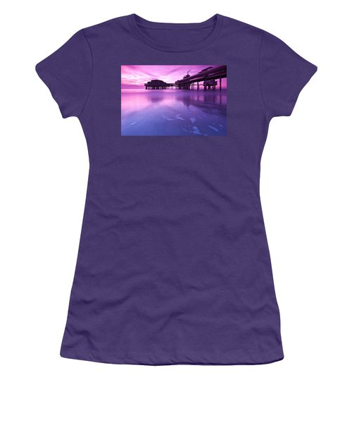 Sunset Over The Pier Women's T-Shirt (Junior Cut) by Mihai Andritoiu