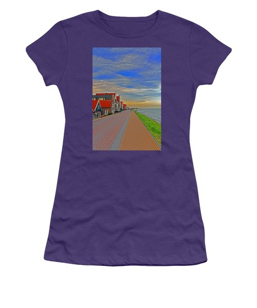 Sunset Over Volendam Women's T-Shirt (Athletic Fit)