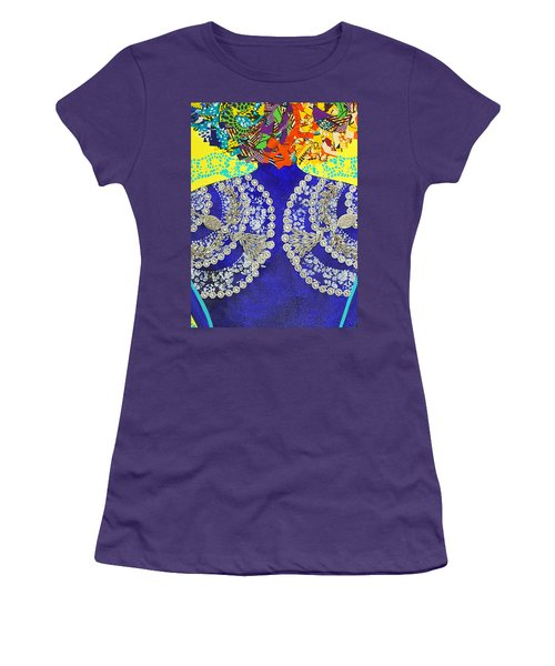 Women's T-Shirt (Junior Cut) featuring the tapestry - textile Temple Of The Goddess Eye Vol 3 by Apanaki Temitayo M