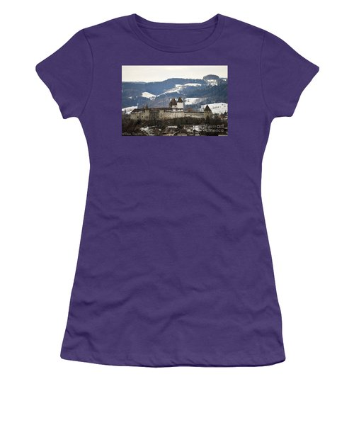 The Castle In Winter Look Women's T-Shirt (Athletic Fit)