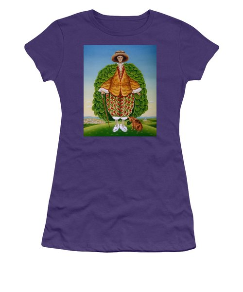 The New Vestments Ivor Cutler As Character In Edward Lear Poem, 1994 Oils And Tempera On Panel Women's T-Shirt (Junior Cut) by Frances Broomfield