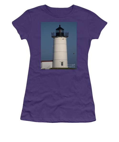 Women's T-Shirt (Junior Cut) featuring the photograph Lighthouse by Eunice Miller
