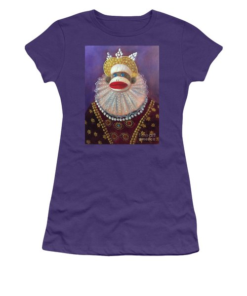 Women's T-Shirt (Junior Cut) featuring the painting The Proud Queen by Randol Burns