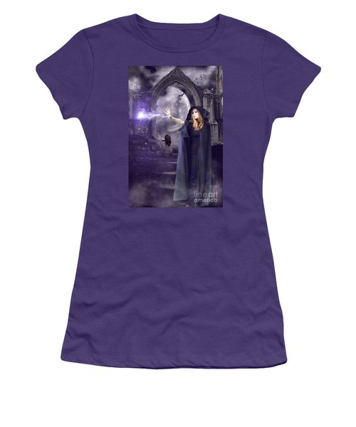 The Spell Is Cast Women's T-Shirt (Junior Cut) by Linda Lees