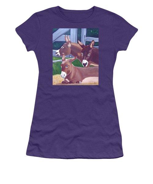 Three Donkeys Women's T-Shirt (Junior Cut)
