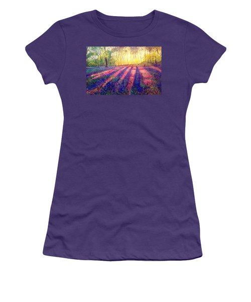 Women's T-Shirt (Junior Cut) featuring the painting Through The Light by Belinda Low