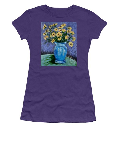 Van Gogh-ish Flowers In A Vase Women's T-Shirt (Athletic Fit)