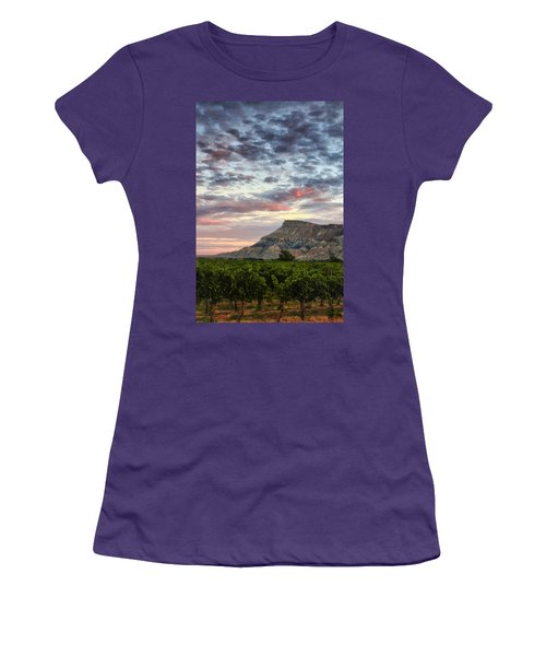 Vineyards And Mt Garfield Women's T-Shirt (Junior Cut) by Ronda Kimbrow