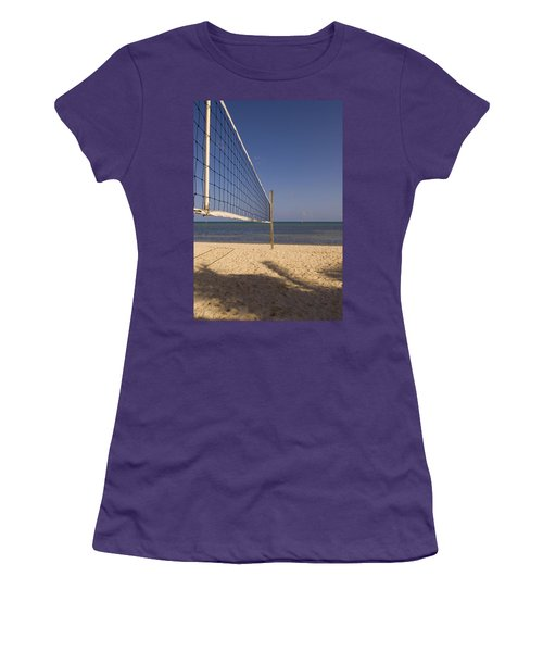 Vollyball Net On The Beach Women's T-Shirt (Athletic Fit)