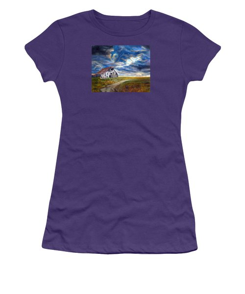 Weathered Barn Women's T-Shirt (Junior Cut) by LaVonne Hand