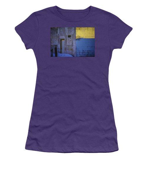 White Building Women's T-Shirt (Athletic Fit)
