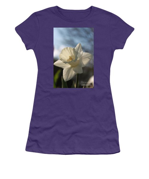 White Daffodil Women's T-Shirt (Athletic Fit)