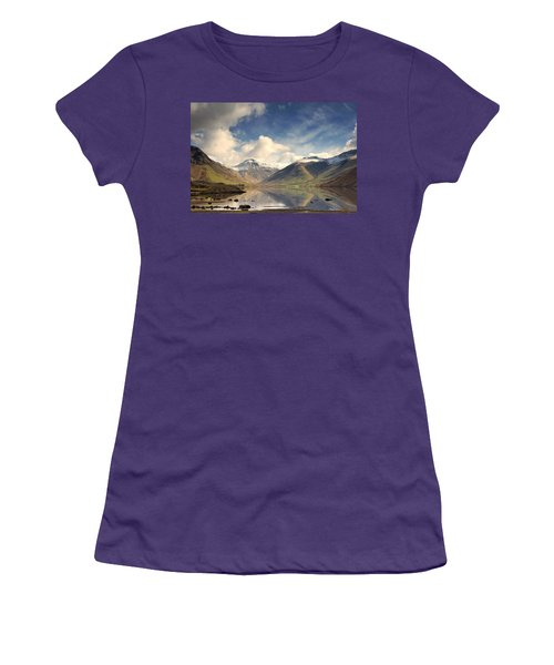 Women's T-Shirt (Junior Cut) featuring the photograph Mountains And Lake At Lake District by John Short