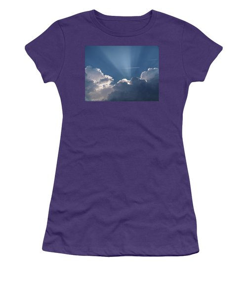 Even Through The Clouds You Will Find A Ray Of Sunshine Women's T-Shirt (Athletic Fit)