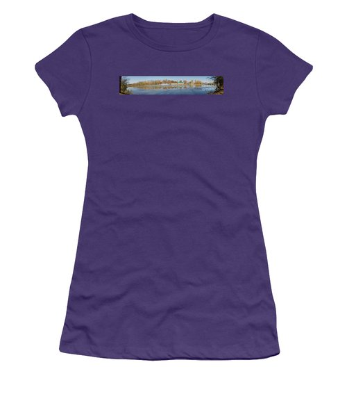 Women's T-Shirt (Junior Cut) featuring the photograph Genesee River Panorama by William Norton