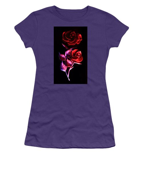 Glowing Glass Rose Women's T-Shirt (Athletic Fit)