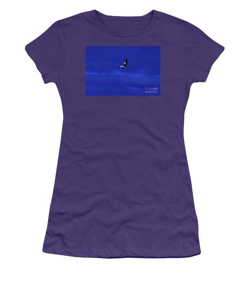 Women's T-Shirt (Junior Cut) featuring the photograph Into The Blue by Blair Stuart