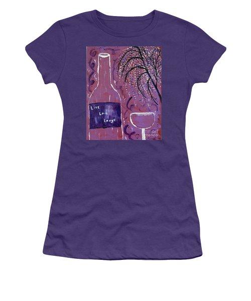 Live Love Laugh Wine Women's T-Shirt (Athletic Fit)