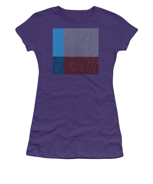 Purple And Blue Women's T-Shirt (Athletic Fit)