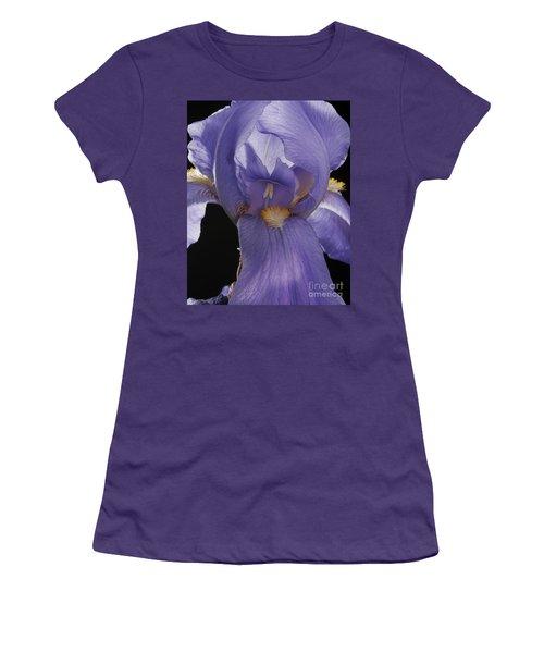 Purple Iris Women's T-Shirt (Junior Cut) by Art Whitton