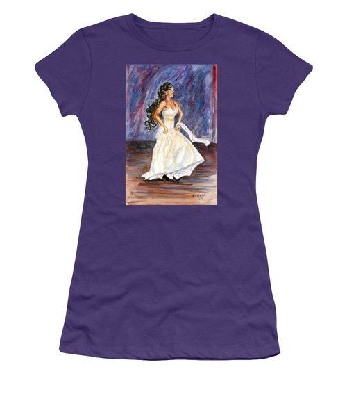 Women's T-Shirt (Junior Cut) featuring the painting Rachel by Clara Sue Beym