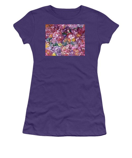 Women's T-Shirt (Junior Cut) featuring the painting Rose Festival by Alys Caviness-Gober