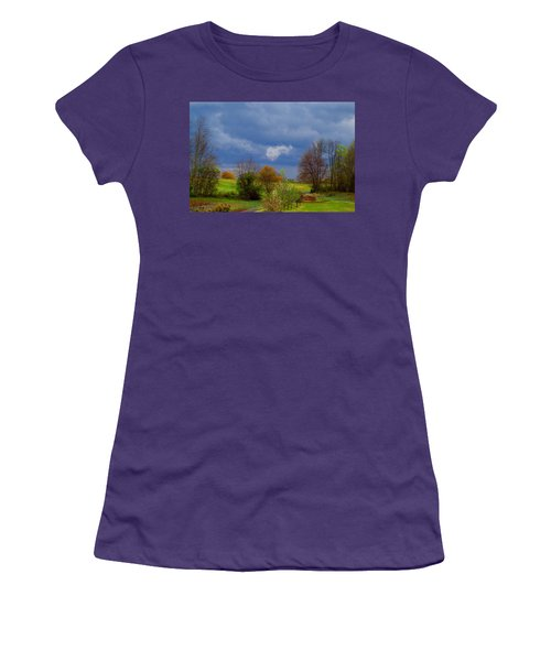 Women's T-Shirt (Junior Cut) featuring the photograph Storm Cell by Kathryn Meyer