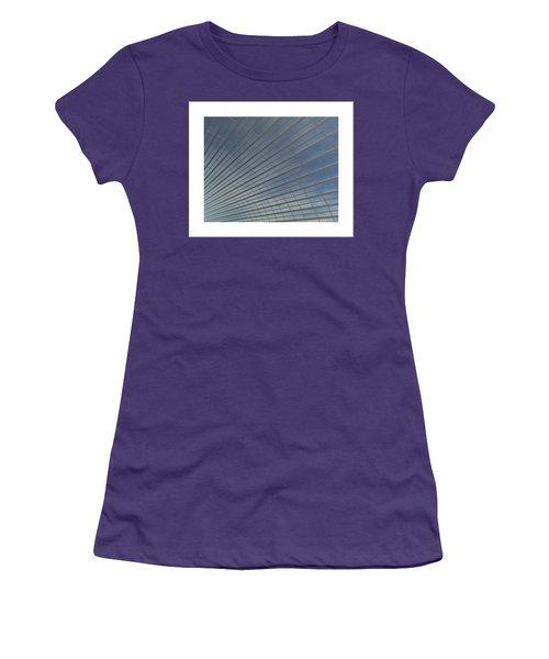 Women's T-Shirt (Junior Cut) featuring the digital art The Hangar... by Tim Fillingim