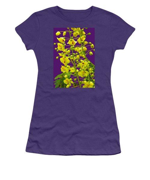 Yellow Flower Women's T-Shirt (Junior Cut) by Manuela Constantin