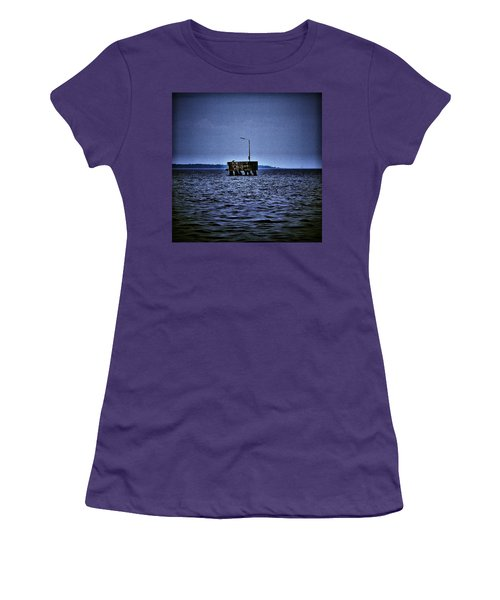 Women's T-Shirt (Junior Cut) featuring the photograph  The Dock Of Loneliness by Jouko Lehto
