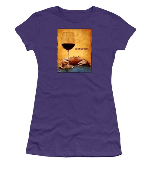Women's T-Shirt (Junior Cut) featuring the painting Crabernet... by Will Bullas