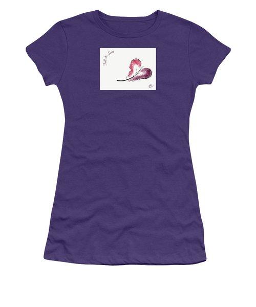 Fall In Love Women's T-Shirt (Junior Cut) by Jason Nicholas