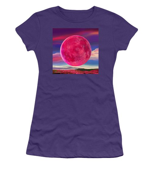 Full Pink Moon Women's T-Shirt (Athletic Fit)