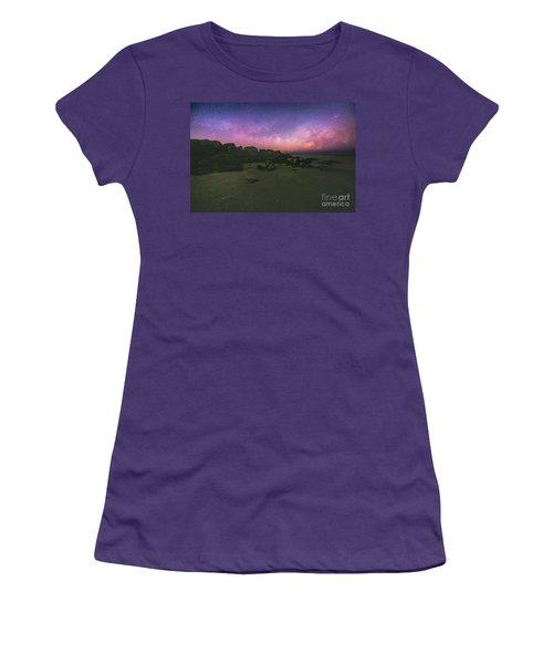 Milky Way Beach Women's T-Shirt (Junior Cut) by Robert Loe