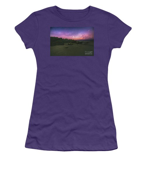 Milky Way Beach Women's T-Shirt (Athletic Fit)