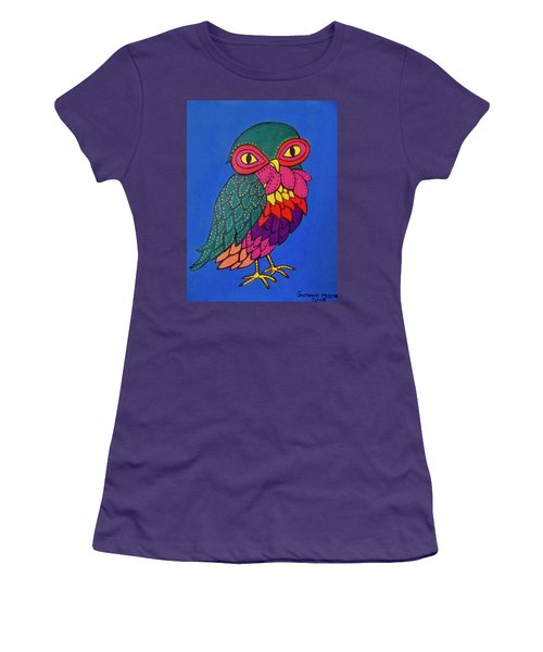 Owl Women's T-Shirt (Athletic Fit)