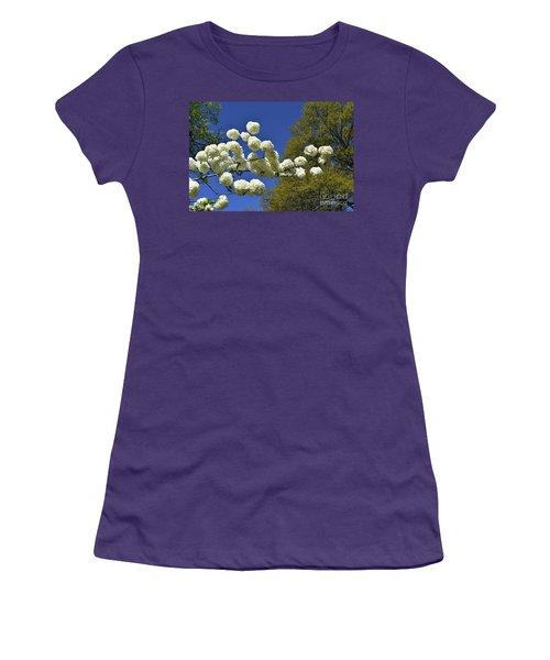 Women's T-Shirt (Junior Cut) featuring the photograph Snowballs by Skip Willits