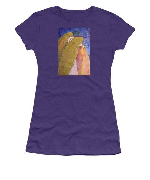Under The Wing Of An Angel Women's T-Shirt (Junior Cut) by Lynda Hoffman-Snodgrass