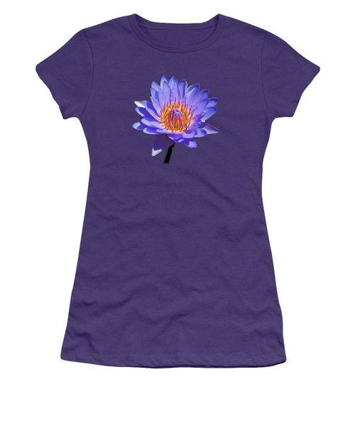 Water Lily Women's T-Shirt (Junior Cut) by Pamela Walton