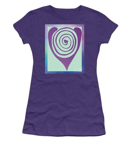 Zen Heart Labyrinth Path Women's T-Shirt (Athletic Fit)