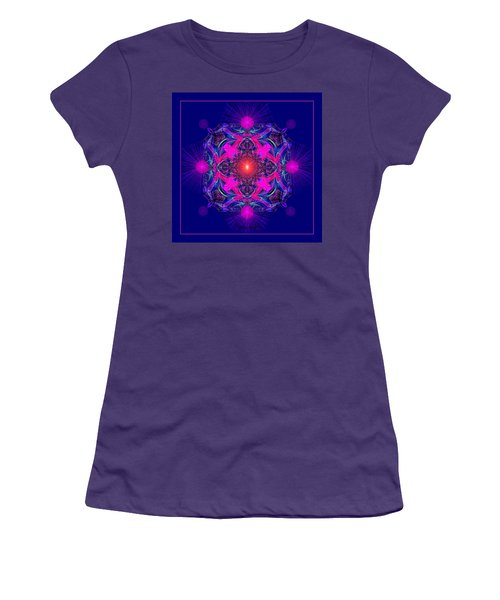 1028 -  A Mandala Purple And Pink 2017 Women's T-Shirt (Athletic Fit)