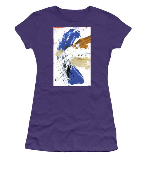Three Color Palette Women's T-Shirt (Junior Cut) by Michal Mitak Mahgerefteh